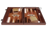 picture of 15-inch Wenge Backgammon Set - Mahogany Field (4 of 12)