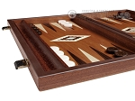 picture of 15-inch Wenge Backgammon Set - Mahogany Field (4 of 11)