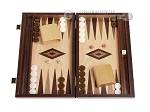 picture of 15-inch Walnut Root Backgammon Set - Oak Field (1 of 12)