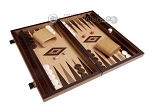 picture of 15-inch Walnut Root Backgammon Set - Oak Field (2 of 12)