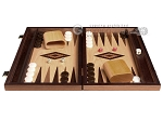 picture of 15-inch Walnut Root Backgammon Set - Oak Field (4 of 12)
