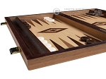 picture of 15-inch Walnut Root Backgammon Set - Oak Field (4 of 11)