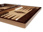 picture of 15-inch Walnut Root Backgammon Set - Oak Field (5 of 11)