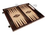 picture of 15-inch Walnut Root Backgammon Set - Oak Field (9 of 12)