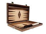 picture of 15-inch Walnut Root Backgammon Set - Oak Field (10 of 12)