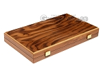 picture of 15-inch Walnut Root Backgammon Set - Oak Field (11 of 12)