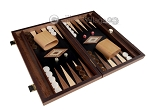 picture of 15-inch Walnut Root Backgammon Set - Black Field (2 of 12)