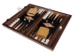 picture of 15-inch Walnut Root Backgammon Set - Black Field (1 of 11)
