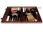 picture of 15-inch Walnut Root Backgammon Set - Black Field (4 of 12)