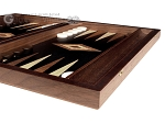 picture of 15-inch Walnut Root Backgammon Set - Black Field (6 of 12)