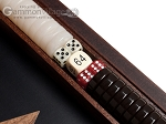 picture of 15-inch Walnut Root Backgammon Set - Black Field (8 of 12)