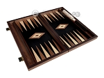 picture of 15-inch Walnut Root Backgammon Set - Black Field (8 of 11)
