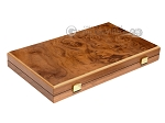 picture of 15-inch Walnut Root Backgammon Set - Black Field (10 of 11)