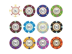 picture of 13.5gram The Mint Composite Clay Poker Chips - Heavy Duty Claysmith Case - 500 Chips (4 of 5)