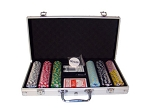 picture of 8gram Stripe Twist Clay Poker Chips - Aluminum Case - Silver - 300 Chips (4 of 5)