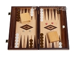 picture of 15-inch Zebrano Backgammon Set - Oak Field (1 of 12)