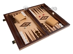 picture of 15-inch Zebrano Backgammon Set - Oak Field (2 of 12)
