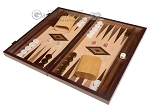 picture of 15-inch Zebrano Backgammon Set - Oak Field (1 of 11)