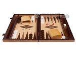 picture of 15-inch Zebrano Backgammon Set - Oak Field (4 of 12)