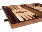 picture of 15-inch Zebrano Backgammon Set - Oak Field (5 of 12)