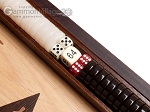 picture of 15-inch Zebrano Backgammon Set - Oak Field (8 of 12)