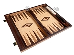 picture of 15-inch Zebrano Backgammon Set - Oak Field (9 of 12)