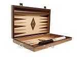 picture of 15-inch Zebrano Backgammon Set - Oak Field (10 of 12)