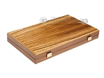 15-inch Zebrano Backgammon Set - Oak Field - Item: 2889