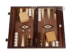15-inch Zebrano Backgammon Set - Walnut Field - Item: 2890