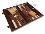 picture of 15-inch Zebrano Backgammon Set - Walnut Field (2 of 12)