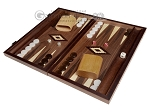 picture of 15-inch Zebrano Backgammon Set - Walnut Field (1 of 11)