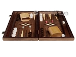 15-inch Zebrano Backgammon Set - Walnut Field