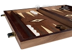 picture of 15-inch Zebrano Backgammon Set - Walnut Field (4 of 11)