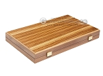 picture of 15-inch Zebrano Backgammon Set - Walnut Field (10 of 11)