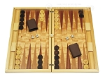 Dal Negro Wood Backgammon Set - Poplar Root - Item: 2721