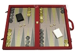 Dal Negro Composite Fiber Backgammon Set - Red - Item: 2625