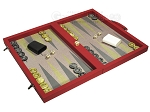 picture of Dal Negro Composite Fiber Backgammon Set - Red (2 of 10)