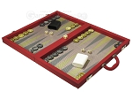 picture of Dal Negro Composite Fiber Backgammon Set - Red (3 of 10)