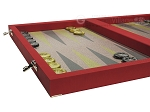 picture of Dal Negro Composite Fiber Backgammon Set - Red (5 of 10)