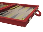 picture of Dal Negro Composite Fiber Backgammon Set - Red (6 of 10)