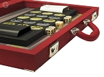 picture of Dal Negro Composite Fiber Backgammon Set - Red (7 of 10)