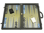 Dal Negro Composite Fiber Backgammon Set - Grey