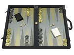 Dal Negro Composite Fiber Backgammon Set - Calypso Blue with Blue Field - Item: 2626