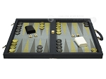 picture of Dal Negro Composite Fiber Backgammon Set - Calypso Blue with Blue Field (4 of 10)
