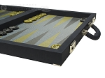 picture of Dal Negro Composite Fiber Backgammon Set - Calypso Blue with Blue Field (6 of 10)