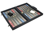 picture of Dal Negro Composite Fiber Backgammon Set - Calypso Blue with Grey Field (2 of 10)