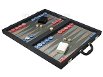 picture of Dal Negro Composite Fiber Backgammon Set - Calypso Blue with Grey Field (3 of 10)
