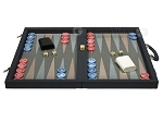 picture of Dal Negro Composite Fiber Backgammon Set - Calypso Blue with Grey Field (4 of 10)
