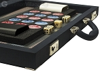 Dal Negro Composite Fiber Backgammon Set - Calypso Blue with Grey Field