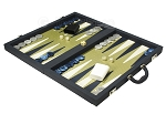 picture of Dal Negro Composite Fiber/Leatherette Backgammon Set - Calypso Blue with Gold Field (3 of 10)